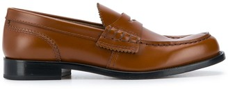 college Scalloped Trim Loafers