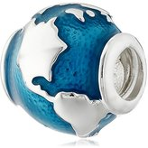 Chamilia 2020-0755 Sterling Silver Around The World Globe Bead Charm