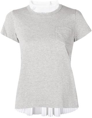 Sacai pleated back T-shirt