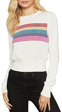 Spiritual Gangster Nikki Rainbow Stripe Sweater