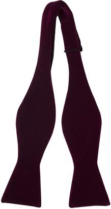 Notch Men's Cotton Self-tie Bow Tie - Velvet in solid plum purple