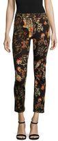Etro Floral-Print Denim Jeans