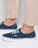 Vans Authentic Canvas Plimsolls In Blue V004mljpv