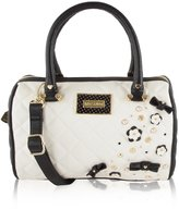 Betsey Johnson Quilted Barrel Cross-body Satchel Bag