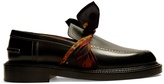 Maison Margiela Silk-scarf tie-front leather loafers