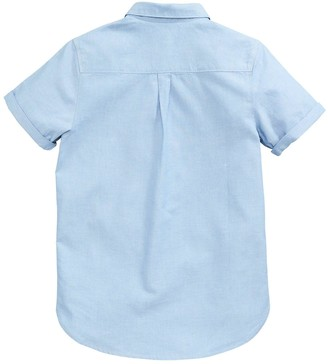 Very Boys Short Sleeve Oxford Shirt - Blue