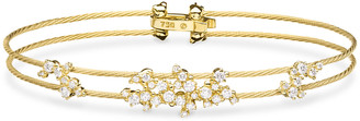 Paul Morelli Diamond Confetti Double Wire Bracelet, Yellow Gold