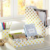Printed Paper Desk Accessories - Gold Dot