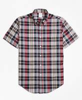 Brooks Brothers Regent Fit Madras Short-Sleeve Sport Shirt
