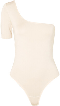CASASOLA One-shoulder Stretch-cady Bodysuit