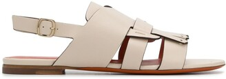 Santoni Slingback Low Heel Sandals