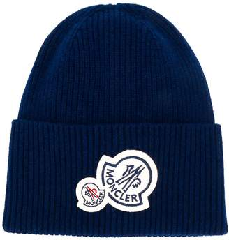 Moncler patch-embellished beanie