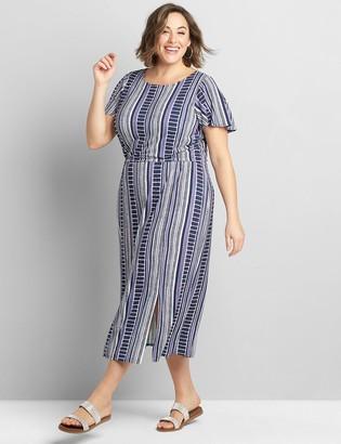 Lane Bryant Short-Sleeve Midi Dress