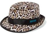 Just Cavalli Grosgrain-Trimmed Leopard-Print Canvas Panama Hat