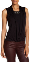 Karen Millen Draped Embellished Shirt