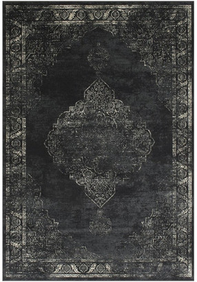 Allstar Rugs Persian Rectangular Accent Rug, Charcoal Gray, 8'x10'