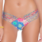 Luli Fama Strappy Brazilian Ruched Back In Multicolor (L49120)