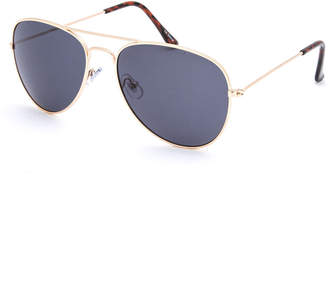 Blue Crown Brandon Gold Boys Aviator Sunglasses