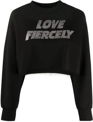 Chiara Ferragni cropped Love Fiercely sweater
