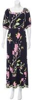 Leonard Floral Print Maxi Dress
