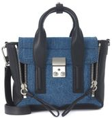 3.1 Phillip Lim Pashli Mini Satchel In Black Leather And Blue Denim