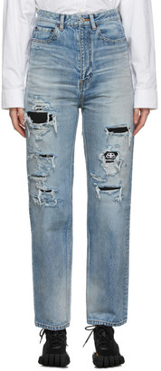 Balenciaga Blue Ripped Jeans