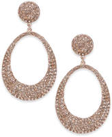 INC International Concepts Rose Gold-Tone Pink Pavé Drop Earrings, Created for Macy's