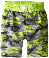 iXtreme Little Boys' Toddler Camo Army Swim Trunk Rashguard