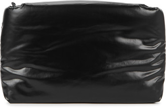 Kassl Editions Oil black padded coated clutch