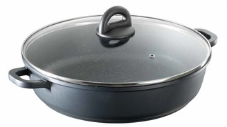 Baccarat Stone Non Stick Saute Pan with Lid 32cm