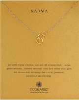 Dogeared Karma Double Circle Adjustable Lariat Necklace, 20""