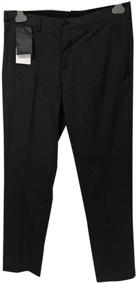 Prada Anthracite Cotton Trousers