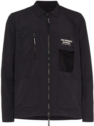 Pas Normal Studios Off Race zip-up shirt jacket