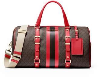 Michael Kors Bedford Brown Red Large Duffle Bag