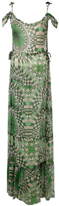 AMIR SLAMA Printed Silk Maxi Dress