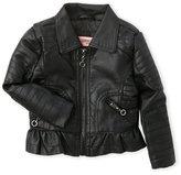 Urban Republic Infant Girls) Faux Leather Motorcycle Jacket