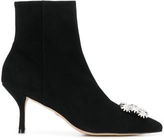 Stuart Weitzman Buckle-Front Ankle Boots