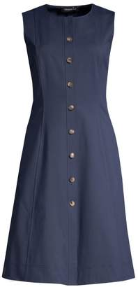 Lafayette 148 New York Fahey Sleeveless Button-Front Dress