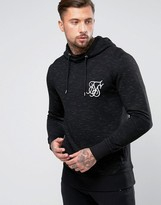 SikSilk Hoodie In Black With Space Dye