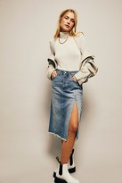 We The Free Mambo Denim Skirt by at Free People, Mambo Blue, 24