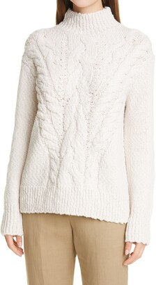Vince Rising Cable Turtleneck Sweater