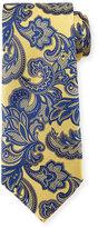 Ermenegildo Zegna Floral Vine-Print Silk Tie, Green