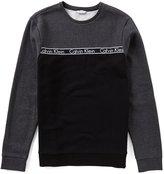 Calvin Klein ID Color Block Logo Tape Long-Sleeve Sweatshirt