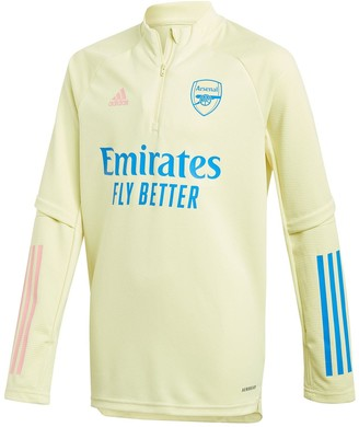 adidas Youth Arsenal 20/21 Warm Up Top - Yellow