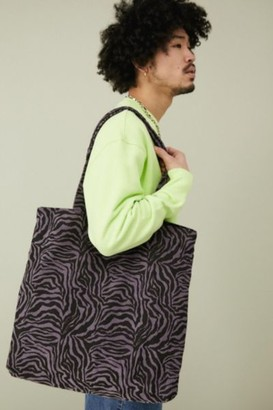 Urban Outfitters Zebra Print Corduroy Tote Bag