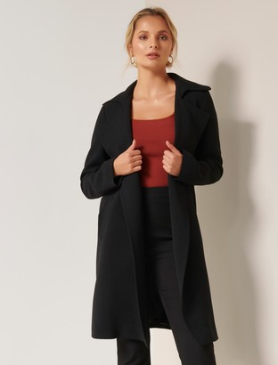 Forever New Mona Trench Coat - Black - 10