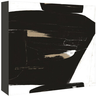 American Flat Americanflat Black And White Abstract 2 By Kasi Minami Canvas Artwork