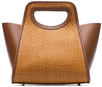 Elleme Cupidion raffia and leather tote