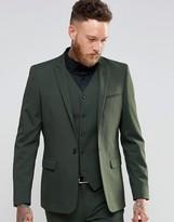 Asos Skinny Suit Jacket In Khaki
