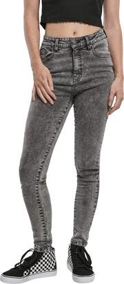 Urban Classics Women's Ladies High Waist Skinny Jeans Trouser